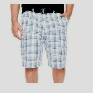 NEW The Foundry Men's Big Tall Belted Shorts s-46